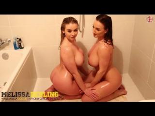 Две голые грудасные телки в душе. Melissa Debling and Stacey Poole