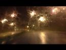 Начался ливень по дороге из аэропорта Пулково