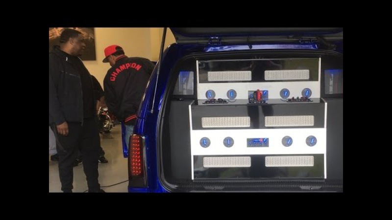 B-Legit Slapping some beats in the Escalade 2 RF T15k Amps 8 18