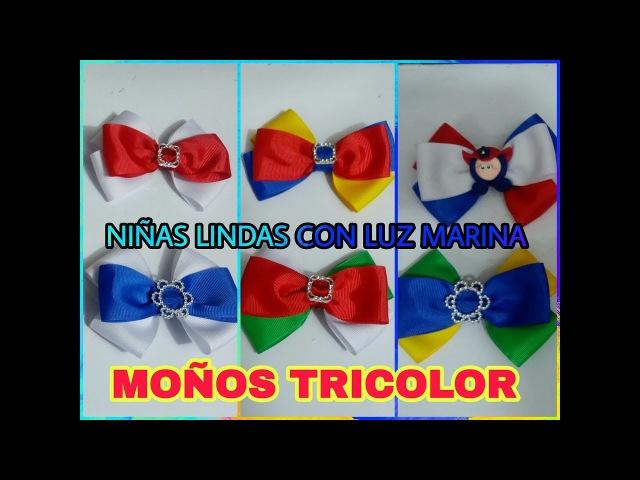 MOÑO TRICOLOR PATRIO / PATRIOTIC TRICOLOR BOW