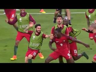 Португалия - Чемпион Европы 2016! Победный гол Эдера в режиме замедленной съемки