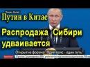 Путин в Китае сегодня Как продают Сибирь 15 05 2017