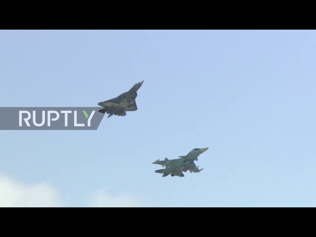 Russia Military and civilian aircraft roar through the skies as MAKS 2017 kicks off