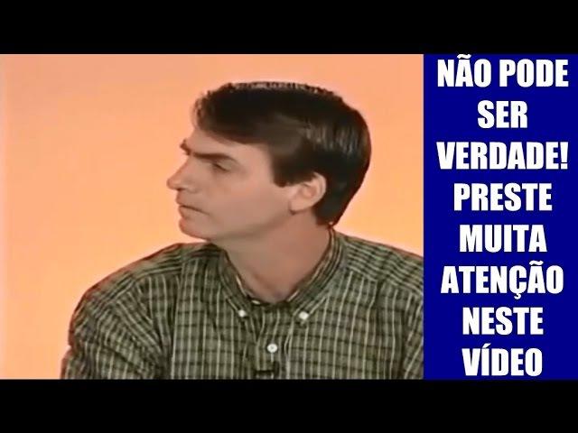 ACHARAM UM VÍDEO ANTIGO DO BOLSONARO, VEJAM SÓ OQUE ELE FALA! | Bolsonaro2018
