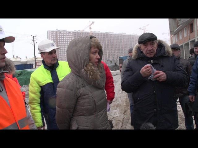 Посещение объектов строительства бывшей ГК Город 19.02.2017