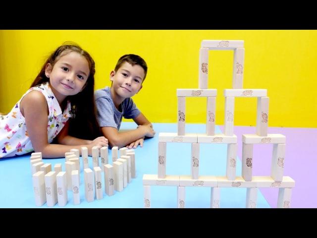 JENGA oyunu nasıl oynanır 😎Eğlenceli bir cevabı BURADA! Değişik metodlar! Zeka oyunu Çocuk gelişimi