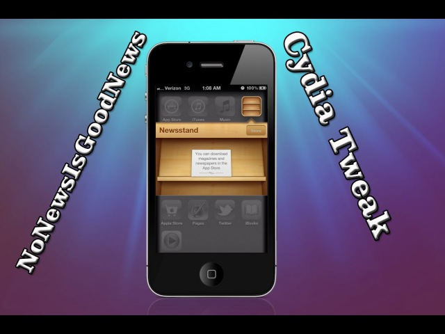 NoNewsIsGoodNews (Cydia Tweak) - How To Hide NewsStand App In iOS 5 iPhone iPod Touch iPad