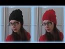 DIY Шапка - чулок или бини на спицах без швов мужская и женская