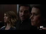 teen wolf |6х07| Мелисса, Питер и Малия. сцена в лифте