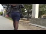 SEXy Girl in Mini Skirt !!! BIG ASS !!! Сексуальная девушка с Большой попой и в короткой юбке !!! Part Three