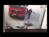 Подборка взрывов автомобильных шин на шиномантажках