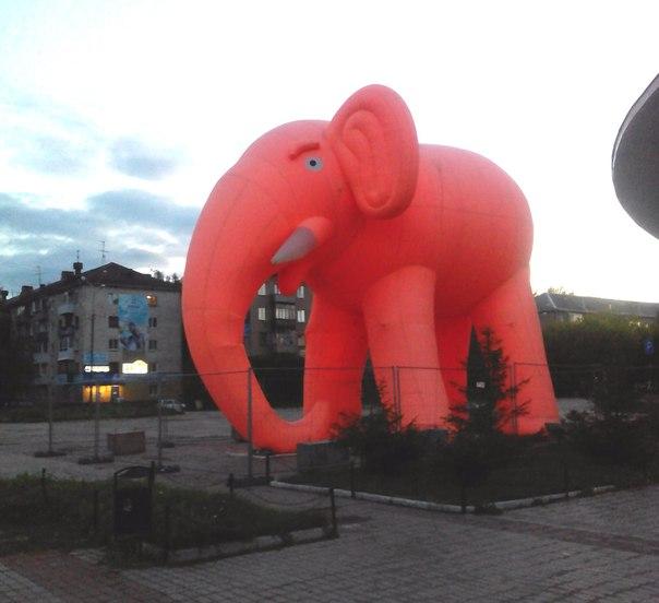 Гигантский слон у цирка😁