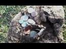 Поиск кладов Кошелёк полный монет Purse found full of coins