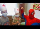 SPIDERMAN Игорек и Богдан Лечим Человека Паука Играем в ДОКТОРА Видео для детей Tiki Taki