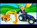 Машины BRUDER для детей. Трактор Экскаватор Погрузчик Мусоровоз Самосвал. Машинки  ...