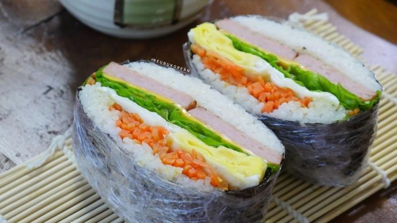 Рецепт приготовления 김밥 샌드위치 (Кимпаб-сендвич).