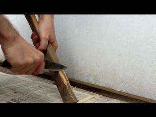 Нож Кизляр Ирбис - Тест на дереве