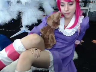 Annie cosplay tease and masturbates. league of legends sex, hentai, porn. lanarain lana rain