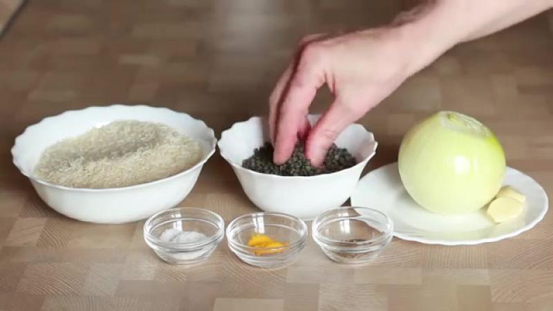 Маджадра - рис с чечевицей