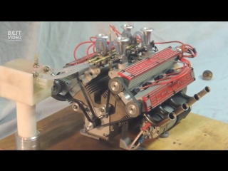 Мини мотор V8 с крутым звуком