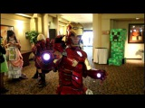 A quick look at awesome Iron Man Mark 7 Costume @ Animeland wasabi 2012
