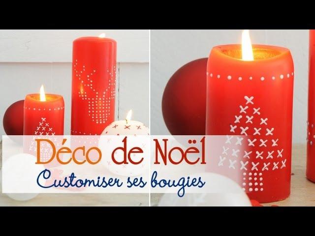 Décorer ses bougies pour Noël Tuto DIY