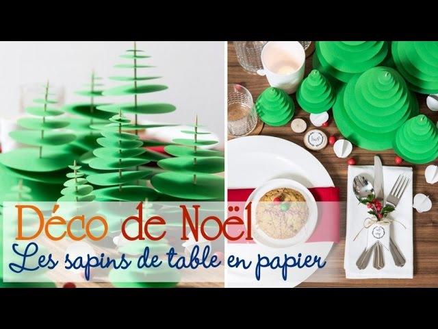 Des sapins de papier pour décorer sa table de Noël DIY