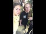 Нюша в прямом эфире Instagram (Школа танцев Станция Свободы)