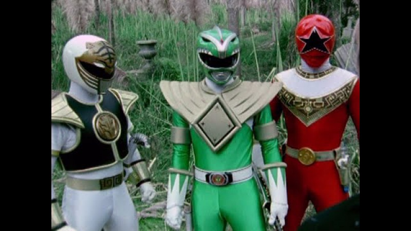 Power Rangers Dino Thunder - Tommy Oliver vs Green, White, and Red Rangers Fights (Fighting Spirit)