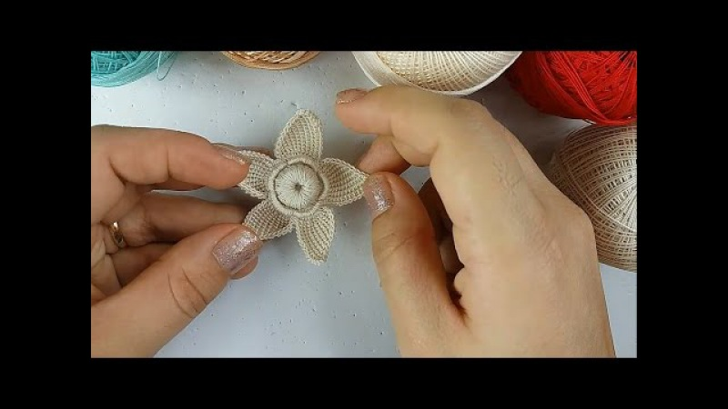 Aprenda Fazer Flor Em Crochê Irlandês! MK Natalia Kotel'nikova