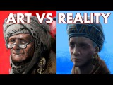 FALLOUT 4 - Concept Art VS Reality - The ART!