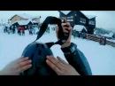 Мялявка на лыжах врезалась Славское г Тростян Спуск по лесной тропе №2