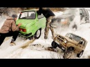 УАЗ, Grand Cherokee и Запорожец в снегу!