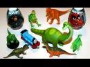 Паровозик Томас и Его Семья. Динозавры дарят Томасу Яйца Киндер Сюрприз Энгри Бе