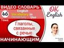 Тема 46 Говорить на английском say tell speak ask answer reply OK English