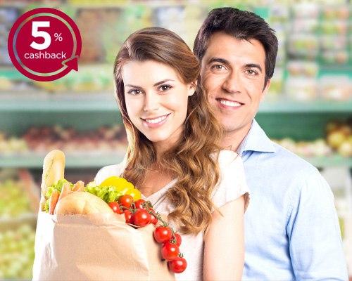 Мы продлили акцию — 5% cashback в супермаркетах  Популярность этой а