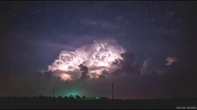 Буря ночью