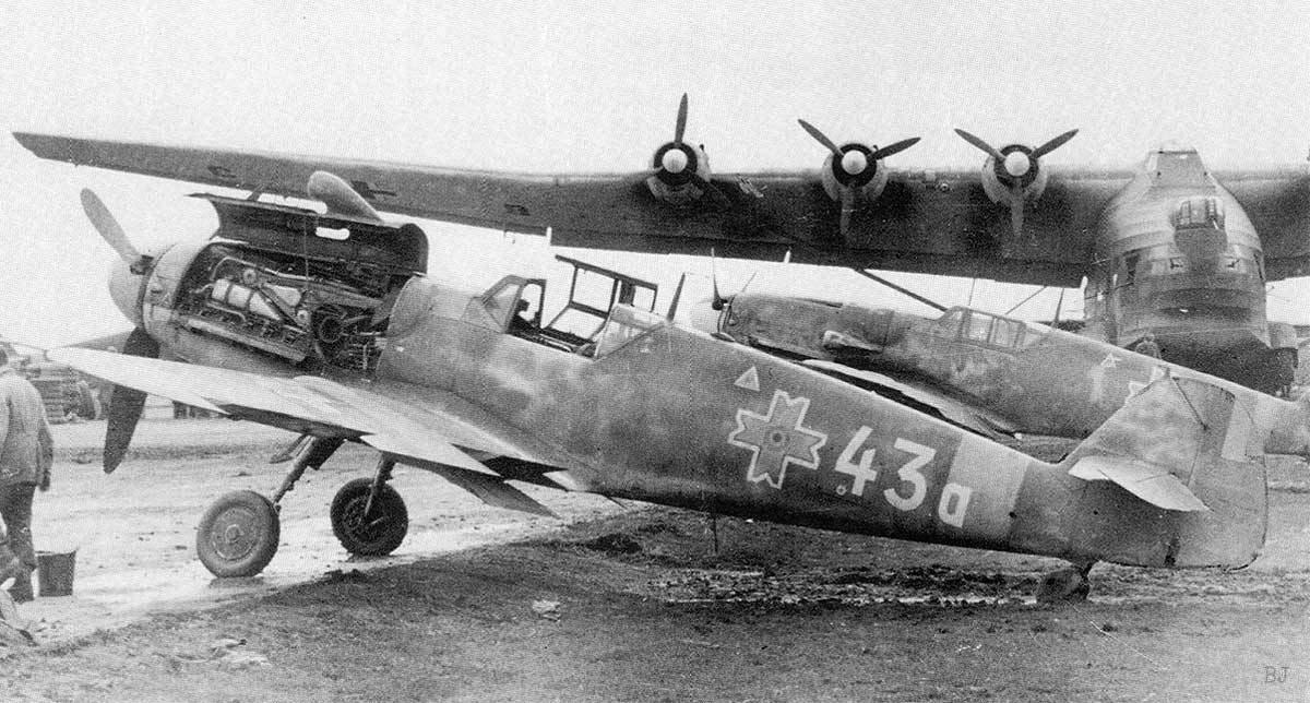 Messerschmitt Bf 109 G-6 Королевских ВВС Румынии и Messerschmitt Me 323 E-2 Waffentrager Gigant Люфтваффе, Румыния '44 г.