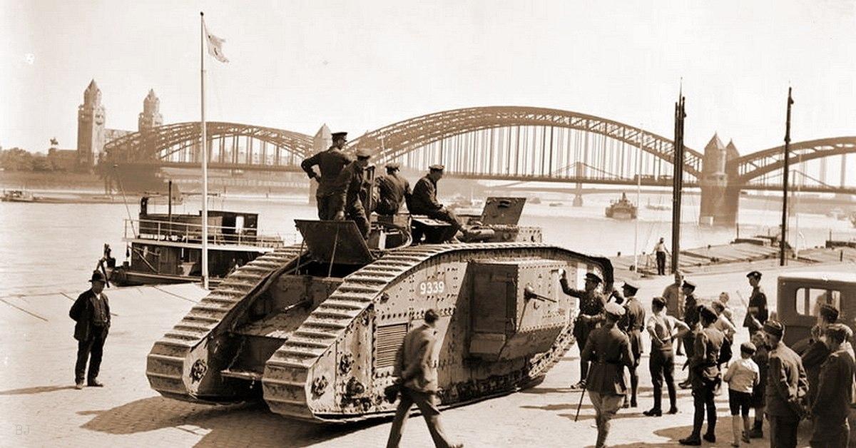 Mark V 12-го танкового батальона ВС Его Величества, Германия '19 г.
