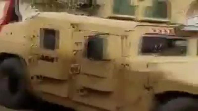 Удар F-16 ВВС Ирака по тоннелю с боевиками