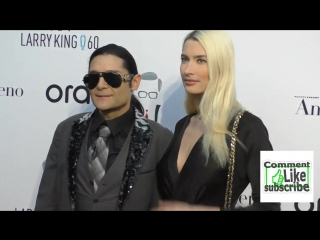 Corey Feldman and Courtney Anne Mitchell at the Larry Kings 60th Broadcasting Anniversary Event ay