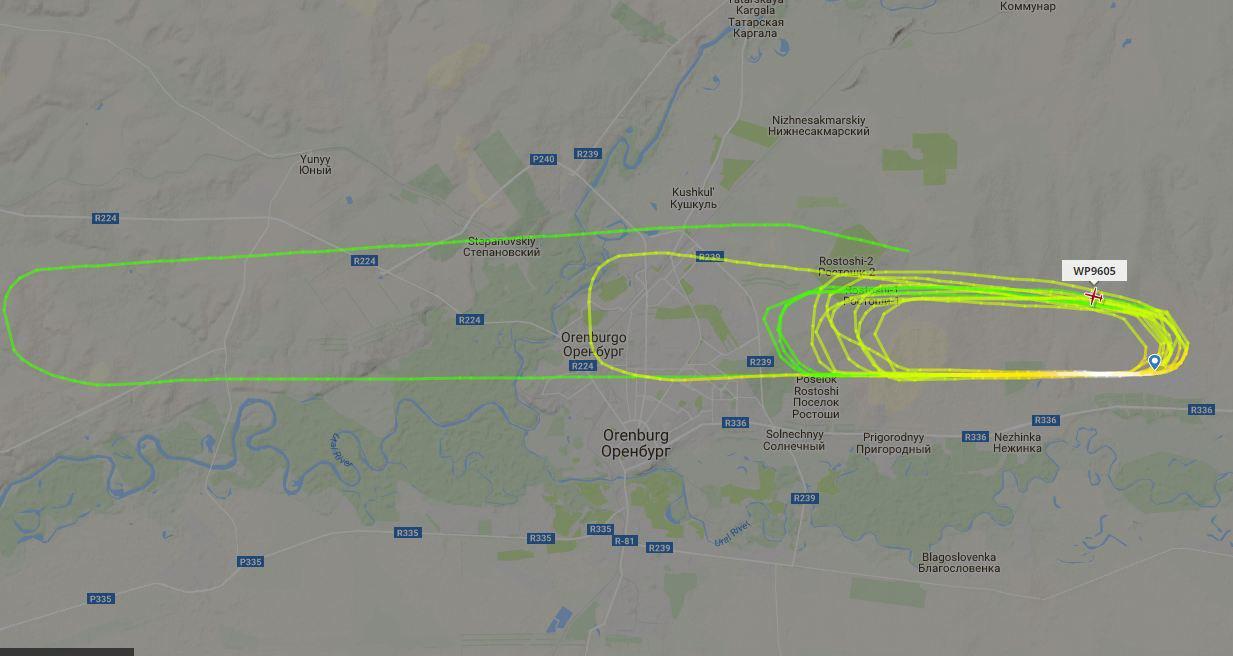 Ваэропорту прокомментировали ситуацию скружащим над Оренбургом самолетом