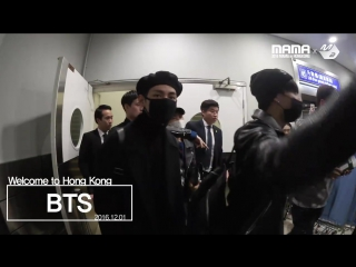 161201 BTS, welcome to Hong Kong for 2016 MAMA @ MPD