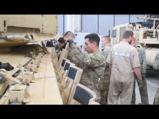 Вооруженные силы США - M1A2 сентября V2 Основной боевой танк Установка реактивной брони пакета [1080p]