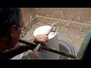 Tournage d'un bol en plâtre - Plaster Bowl Turning.