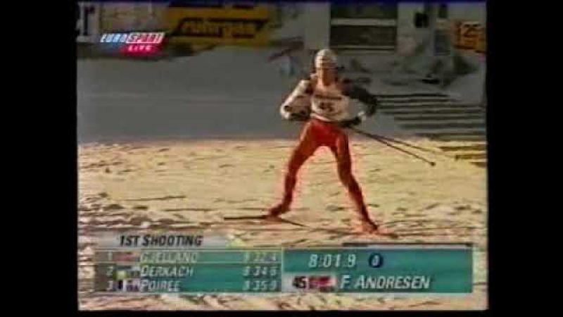 BIATHLON WORLD CUP OSTERSUND 1999 00 SPRINT ANDRESEN NOR
