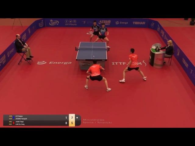 2018 Polish Open Highlights I Jeoung Sangeun/Lee Sangsu vs Jiang Tianyi/Lam Siu Hang (Final)