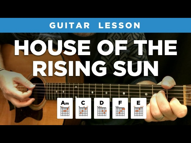 🎸 House of the Rising Sun guitar lesson w/ chords tabs (The Animals)
