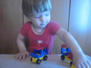 LEGO Развивайка,складываем лего паравозик.