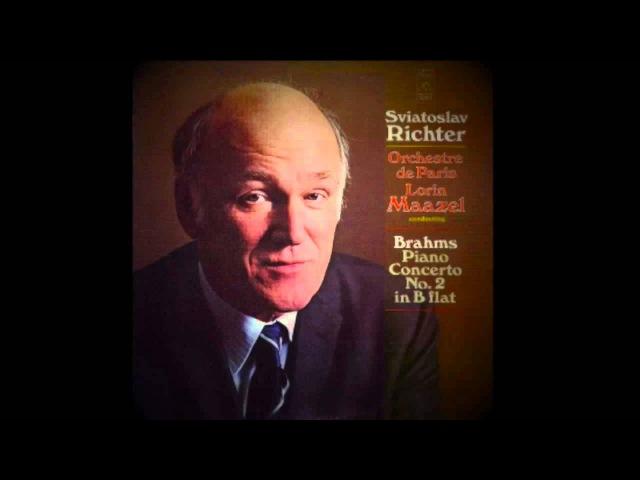 Sviatoslav Richter│J.Brahms, Piano Concerto No.2│Lorin Maazel, Orchestre De Paris│1970
